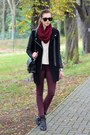 Black-sheinside-coat-crimson-topshop-jeans-off-white-chicwish-sweater