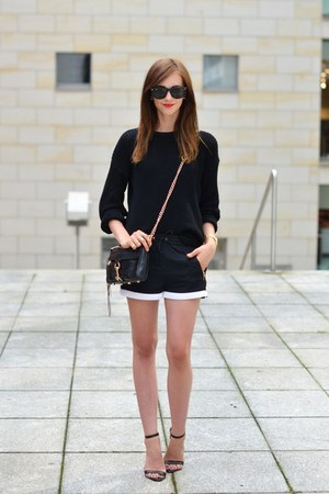 black American Apparel sweater - black Rebecca Minkoff bag