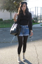 Vera Wang for Kohls sweater - Levis shorts - Worn as top Wolford dress - Opening