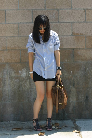 aa skirt - Gap shirt - Nine West shoes - Miu Miu purse