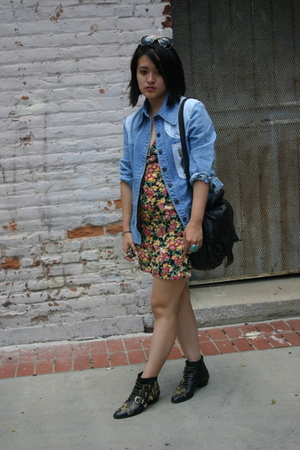 vintage jacket - Erin Wasson x RVCA dress - Chloe shoes