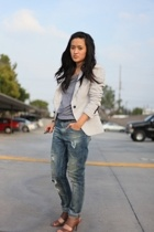 Zara jeans - Zara blazer - Zara shoes - American Apparel shirt