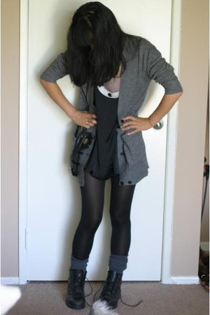 f21 dress - Timberland shoes - H&amp;M sweater - f21 socks