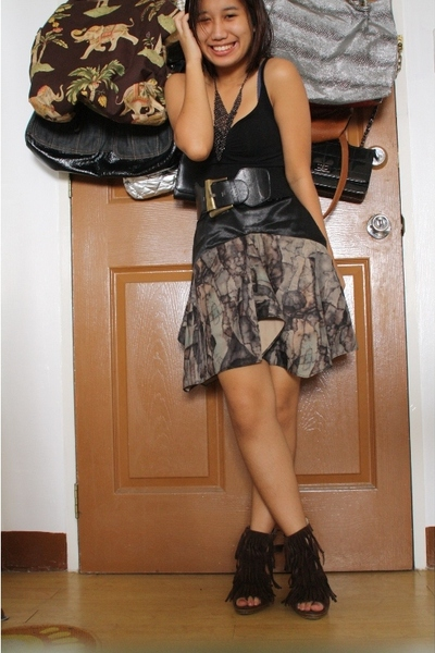 H&amp;M top - Kate Morales skirt - 168 belt - Forever21 accessories - shoes