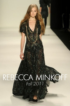 forest green maxi Rebecca Minkoff dress