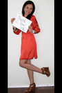 orange Forever 21 dress - brown Cynthia Vincent for Target shoes - white ToyWatc