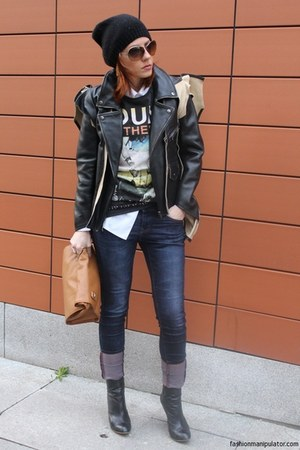 Zara boots - Esprit hat - Maison Martin Margiela for H&amp;M jacket - Zara bag