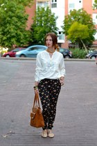 white BLANCO shirt - black Zara jeans - burnt orange BLANCO bag