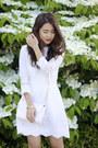 White-white-dolce-vita-dress-white-crossbody-forever-21-bag