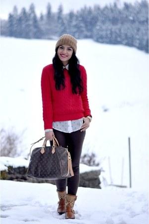 Ralph Lauren sweater - Louis Vuitton bag - Michael Kors watch