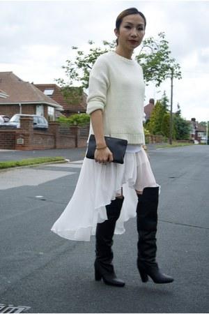 Mango jumper - H&M boots - other dress