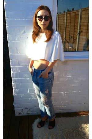 Zara jeans - Zara top - Zara heels