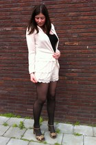 conscious collection H&M blazer - conscious collection H&M shorts - Ebay heels