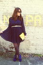 Leaf-necessary-clothing-belt-blue-suede-necessary-clothing-wedges