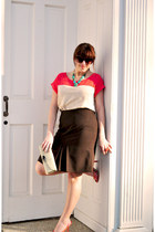 Ann Taylor Loft skirt - color block TJ Maxx top