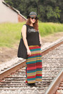 Striped-ross-dress-black-oxfords-tj-maxx-flats