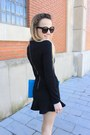 Silver-nixon-watch-black-h-m-dress-sky-blue-asos-bag