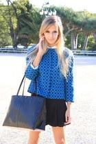 black Zara bag - black Zara skirt