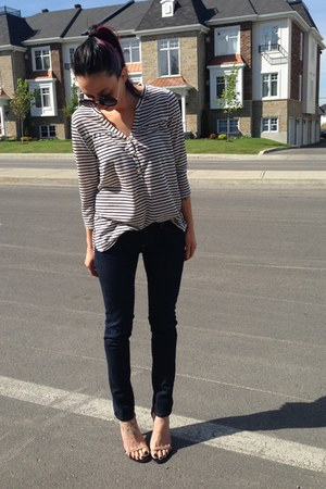 Paige jeans - H&amp;M shirt - Steve Madden heels