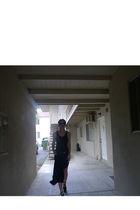 black t by alexander wang dress - black Jeffrey Compbell shoes - brown Chloe gla