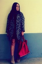 Zara dress - Zara coat - Zara bag - Nelly heels