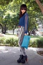 Jeffrey Campbell boots - H&M shirt - asos bag - H&M pants