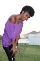 just fab boots - American Apparel tights - alloy blouse - JewelMint earrings