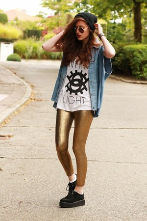 metallic gold chicnovacom leggings