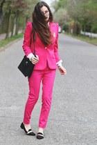 hot pink Sheinsidecom blazer - hot pink Sheinsidecom pants