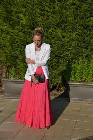 Zara blazer - Zara skirt - Chanel wallet