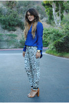 necessary clothing blouse - Zara pants - Zara heels