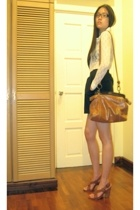 vintage top - American Apparel skirt - Urban Soul - Mimco purse