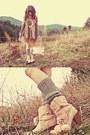 Light-pink-liz-lisa-boots-heather-gray-romwe-sweater