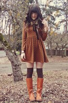 tawny bort carelton boots - brown Clothing Lves dress