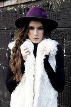 CREAM FAUX FUR GILET SILK LINED #REBEKAH