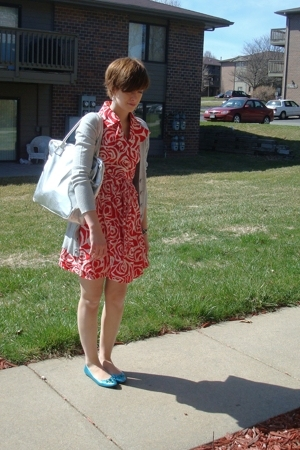 francescas dress - Express sweater - purse - sigerson morrison for target shoes