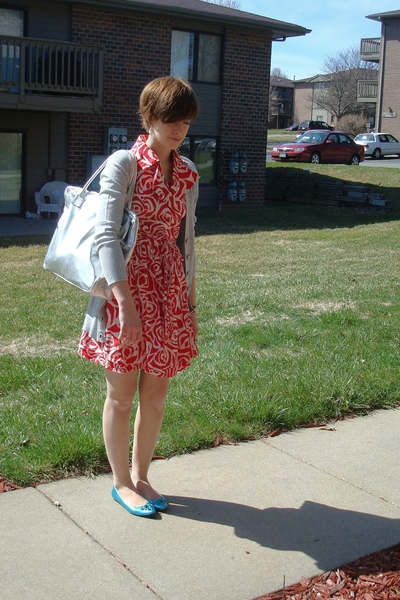 francescas dress - Express sweater - purse - sigerson morrison for target shoes