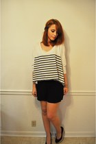 Forever 21 shorts - striped Express top - Steve Madden wedges