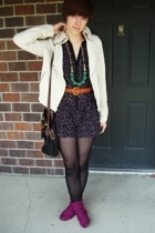 I heart ronson shorts - Express jacket - Bamboo boots - Target necklace