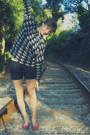 gray Self Made sweater - black Hurley shorts - red Mervyns shoes