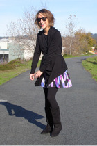 black H&M sweater - purple Choice dress - black Steve Madden boots