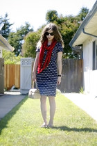 thrifted scarf - Forever 21 dress - vintage bag - tory burch sandals