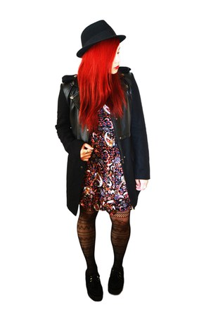 suede creepers shoes - Paisley Dress dress - leather Nasty Gal coat