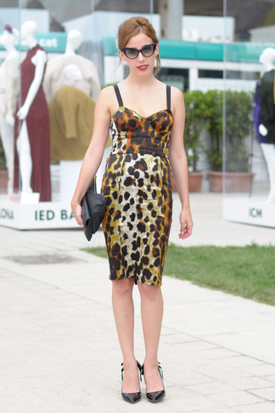black & other stories bag - brown leopard Topshop dress