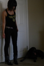 Armani Exchange top - Forever21 jeans - payless shoes - belt
