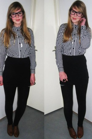Sascha shoes - nerdy glasses Zipper glasses - H&M blouse