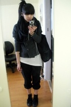 Gap coat - Express - Gap t-shirt - pants - Gap purse - Converse shoes