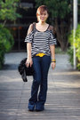 Navy-wideleg-primark-jeans-black-random-brand-jacket-black-rampage-bag-bla