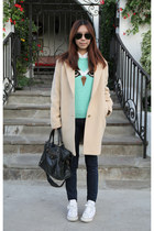 Uniqlo coat - J Brand jeans - Topshop sweater - balenciaga bag