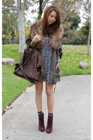 Nasty Gal jacket - Joes Jeans shoes - Urban Outfitters dress - H&M scarf